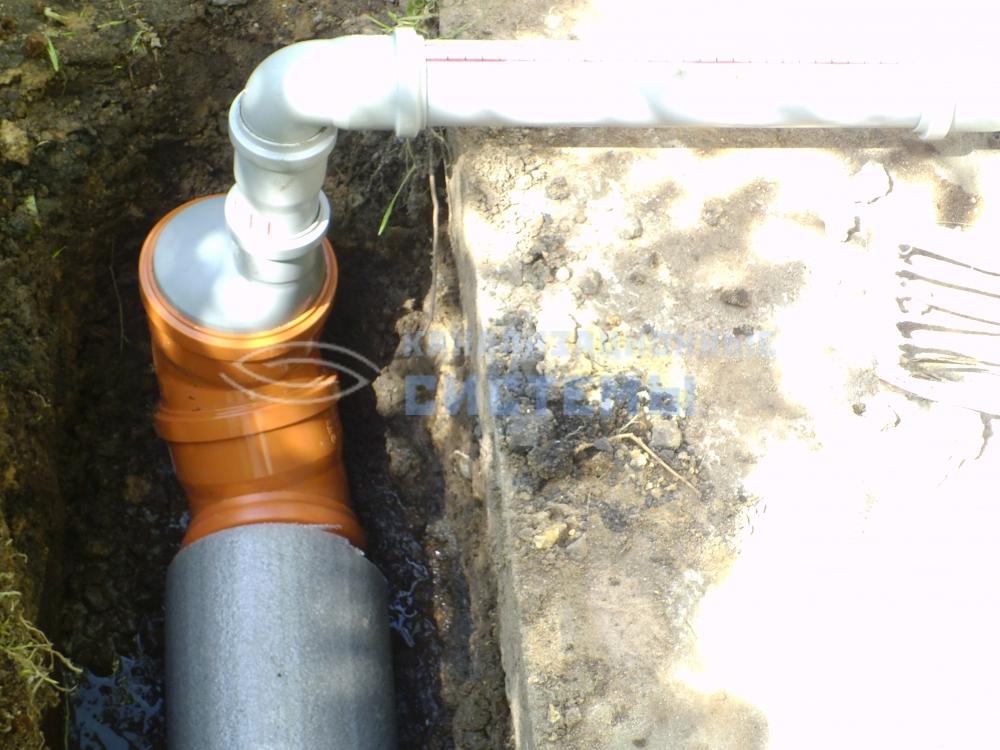Вывод канализации из дома своими руками 63
